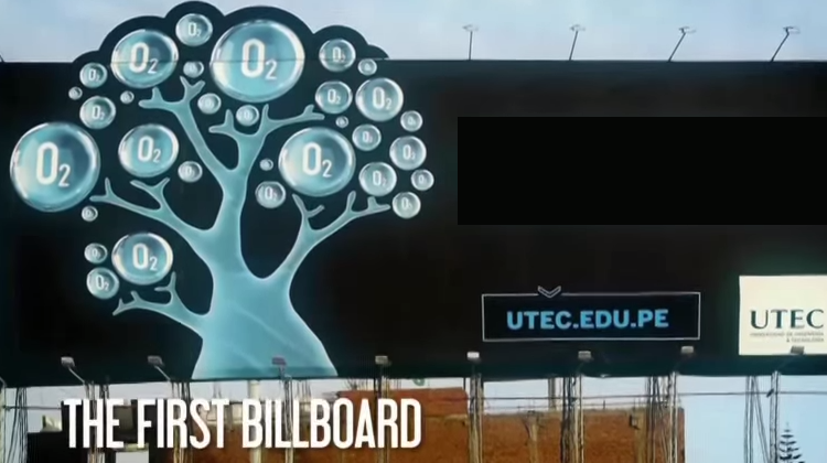 Amazing Billboard that literally eats Air Pollution