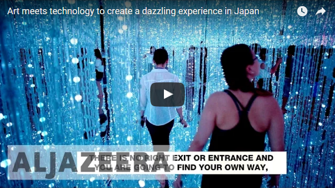 Art Meets Technology to create a Dazzling experience in Japan