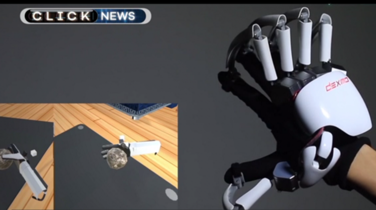 Exoskeleton Gloves that Allow you to Feel in Virtual Reality and other Tech News