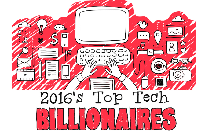 2016's Top Tech Billionaires